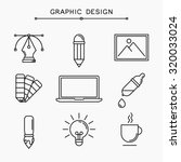 vector linear graphic design... | Shutterstock .eps vector #320033024