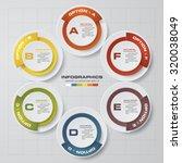 simple editable 6 steps chart... | Shutterstock .eps vector #320038049