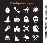 halloween icons set from...   Shutterstock .eps vector #320038301