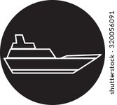 ship icon | Shutterstock . vector #320056091