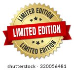 limited edition 3d gold badge... | Shutterstock .eps vector #320056481