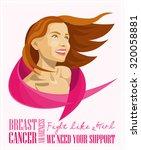 breast cancer awareness month... | Shutterstock .eps vector #320058881