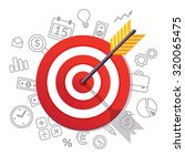 dartboard arrow and icons.... | Shutterstock .eps vector #320065475