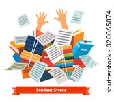 student stress. studying pupil... | Shutterstock .eps vector #320065874