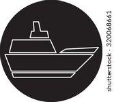 ship icon | Shutterstock . vector #320068661
