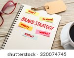 brand marketing strategy... | Shutterstock . vector #320074745