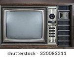 tuner of vintage television | Shutterstock . vector #320083211