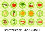 colorful organic food set with... | Shutterstock .eps vector #320083511