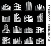 buildings icons | Shutterstock .eps vector #320085671