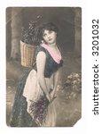 Handpainted Vintage  Postcard   ...
