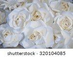 beautiful white roses flowers... | Shutterstock . vector #320104085