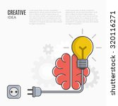 creative idea and innovation... | Shutterstock .eps vector #320116271