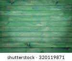 Vintage Green Wood Panel Fine...