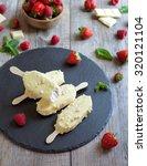 white chocolate raspberry... | Shutterstock . vector #320121104