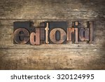 editorial  set with vintage... | Shutterstock . vector #320124995