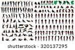 naked sexy girls and men... | Shutterstock .eps vector #320137295