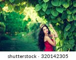 beautiful princess with a... | Shutterstock . vector #320142305