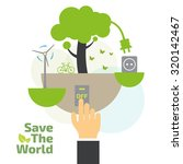 savings concept  switch off ... | Shutterstock .eps vector #320142467