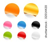set of blank stickers. editable ... | Shutterstock .eps vector #32014420