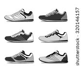 running shoes  retro shoes.... | Shutterstock .eps vector #320146157