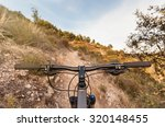 bicycle view from bikers eyes.   Shutterstock . vector #320148455