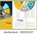 colorful  corporate brochure ... | Shutterstock .eps vector #320151527