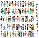 big set of family life in style ... | Shutterstock . vector #320152391