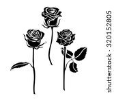 Three Roses Silhouette