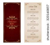 restaurant menu design  ... | Shutterstock .eps vector #320160857