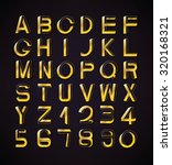 impossible font set  including... | Shutterstock .eps vector #320168321