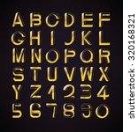 impossible font set  including... | Shutterstock .eps vector #320168321