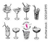hand drawn sketch set of... | Shutterstock .eps vector #320169395