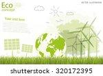 ecology concept  creative... | Shutterstock .eps vector #320172395