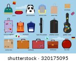 different types of baggage ... | Shutterstock .eps vector #320175095