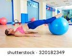 pilates woman pelvic lift... | Shutterstock . vector #320182349