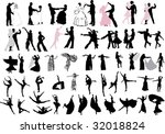 illustration with dancer... | Shutterstock . vector #32018824