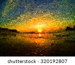 Sea Sunrise Or Sunset  Clouds...