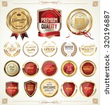 quality golden badges and... | Shutterstock .eps vector #320196887