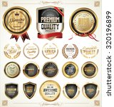 quality golden badges and... | Shutterstock .eps vector #320196899