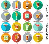alcohol drinks and cocktails... | Shutterstock .eps vector #320197919