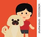 pets love concept about  dog... | Shutterstock .eps vector #320210624