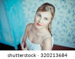 young woman portrait. shape and ... | Shutterstock . vector #320213684