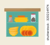 home kitchen concept  about... | Shutterstock .eps vector #320214974