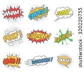 collection of nine wording... | Shutterstock .eps vector #320220755