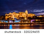 Budapest Castle At Sunset From...