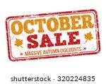 october sale grunge rubber... | Shutterstock .eps vector #320224835