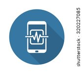 mobile medical supervision icon.... | Shutterstock .eps vector #320227085