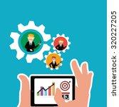 workforce illustration over... | Shutterstock .eps vector #320227205