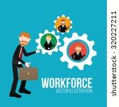 workforce illustration over...   Shutterstock .eps vector #320227211