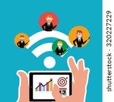 workforce illustration over... | Shutterstock .eps vector #320227229